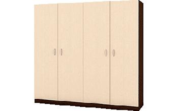 Четирикрилен гардероб с място за скрин