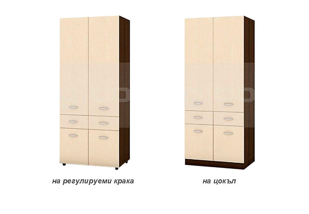 Двукрилен гардероб Хилтън