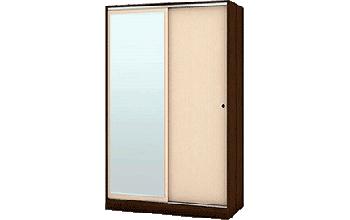 Двукрилен гардероб с плъзгащи врати