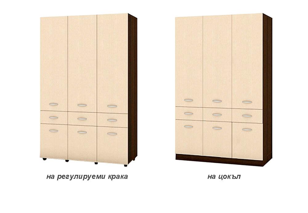 Трикрилен гардероб Хилтън