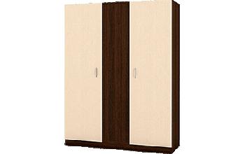 Трикрилен гардероб с неотваряема средна част
