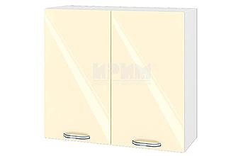 Модулни кухненски шкафове Сити МДФ Бежово гланц + Бяло гладко