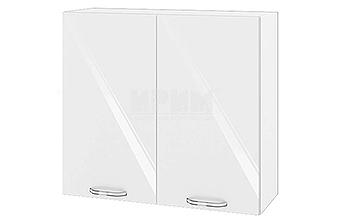 Модулни кухненски шкафове Сити МДФ Бяло гланц + Бяло гладко