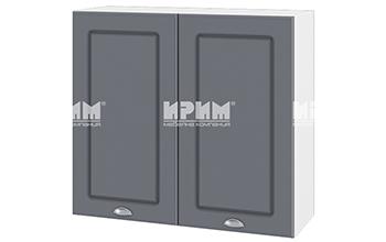 Модулни кухненски шкафове Сити МДФ Цимент мат + Бяло гладко