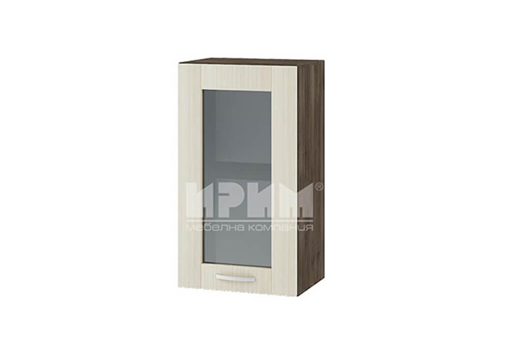 Горен кухненски шкаф с витрина G102