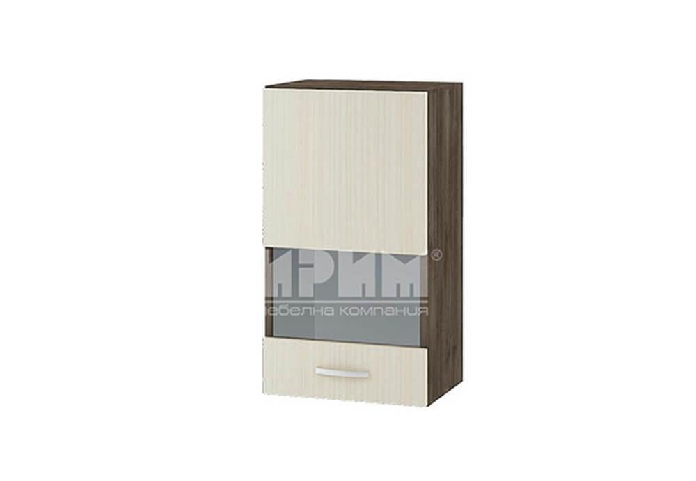 Горен кухненски шкаф витрина с една врата G103