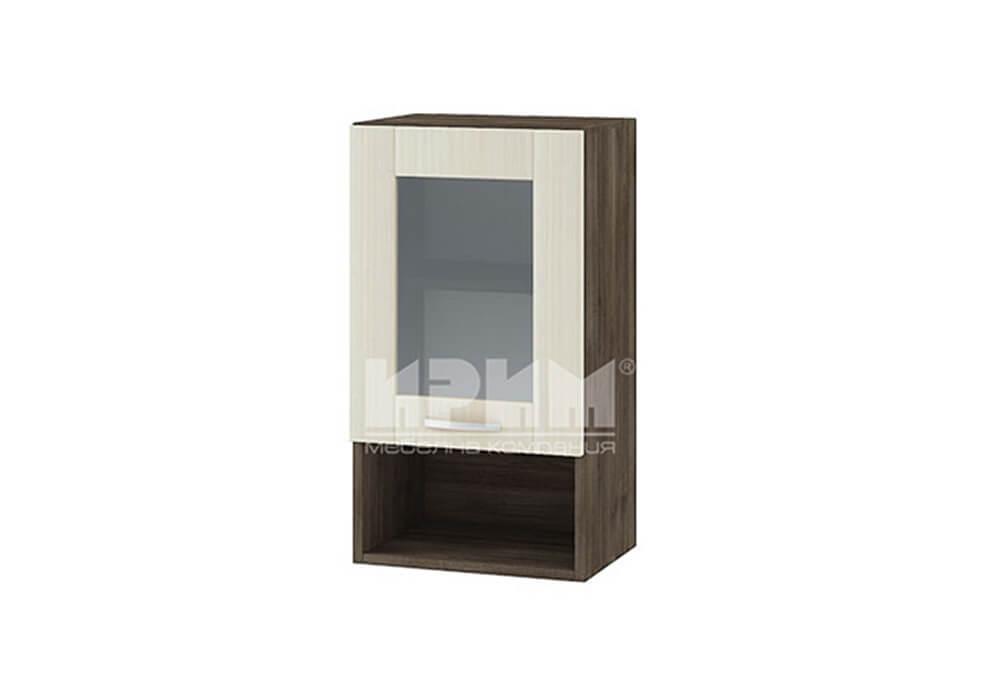 Горен кухненски шкаф с една витрина и ниша G106