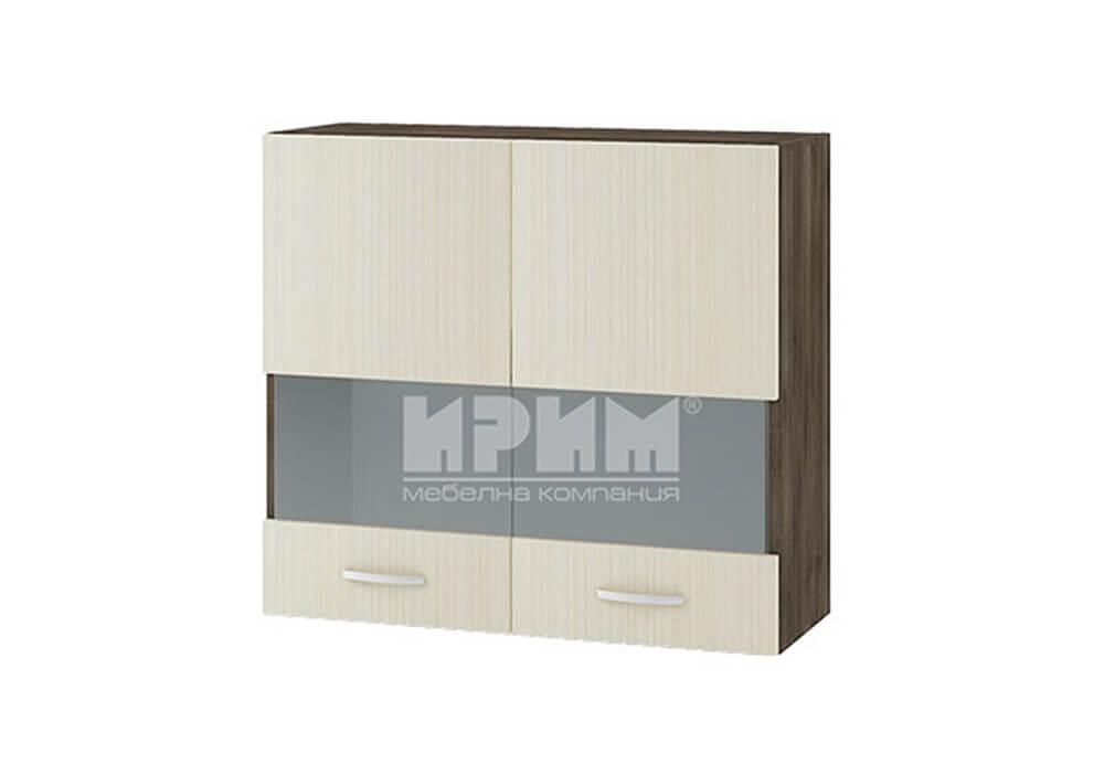 Горен кухненски шкаф с две остъклени врати G110