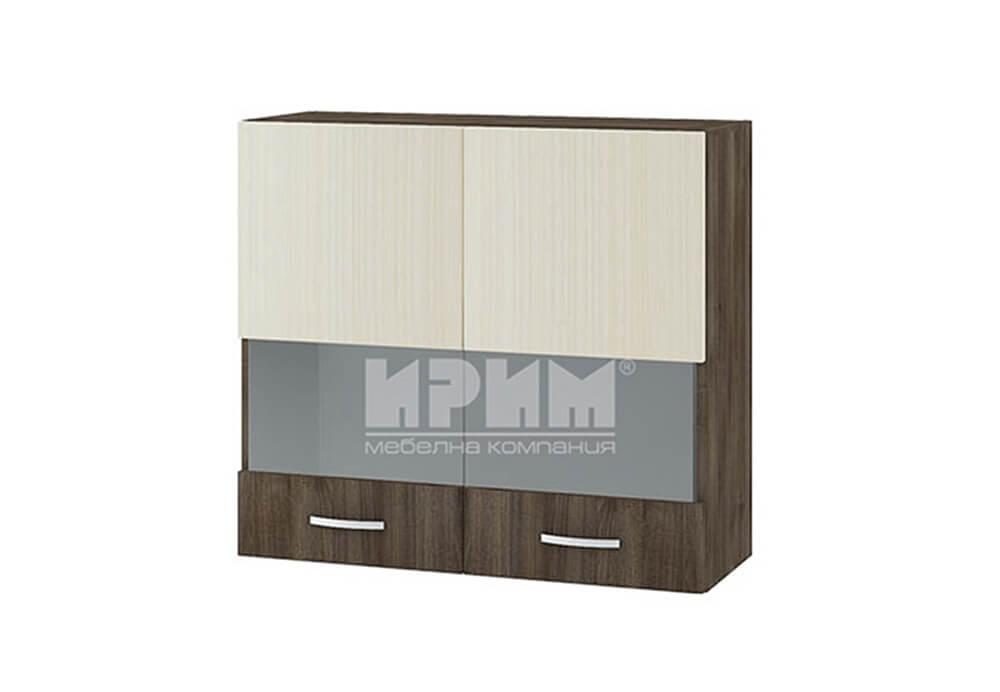 Горен кухненски шкаф с две остъклени врати G111