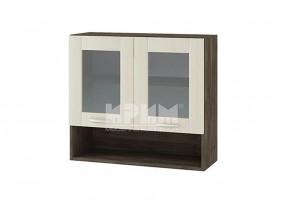 Горен кухненски шкаф с две витрини и ниша G113