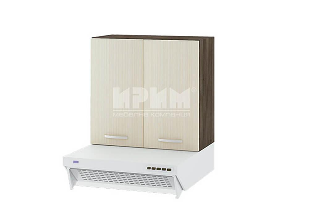 Горен кухненски шкаф за окачен аспиратор с две врати G118