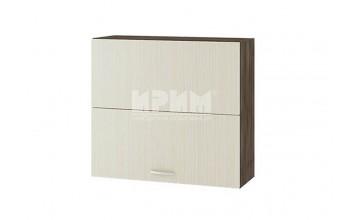 Горен кухненски шкаф с две чупещи и повдигащи се врати с механизъм Blum Aventos HF G121