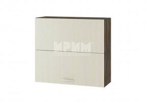 Горен кухненски шкаф с чупещи се врати, механизъм Blum Aventos HF и отцедник за чинии и чаши G122