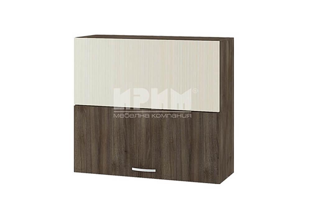 Горен кухненски шкаф с две чупещи и повдигащи се врати с механизъм Blum Aventos HF G124