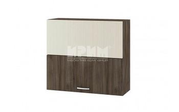Горен кухненски шкаф с чупещи се врати, механизъм Blum Aventos HF и отцедник за чинии и чаши G125