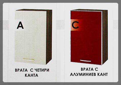 Визия на лица на кухненски шкаф за фурна