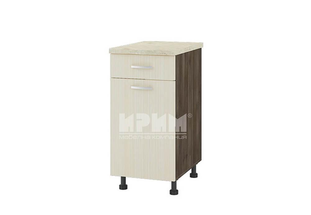 Долен кухненски шкаф с една врата и чекмедже D303
