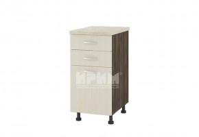 Долен кухненски шкаф с врата и две чекмеджета D305