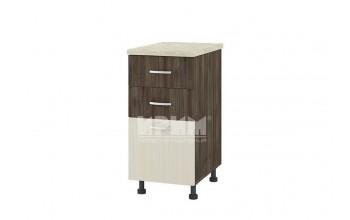 Долен кухненски шкаф с две плитки и едно дълбоко чекмедже D310