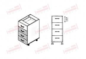 Долен кухненски шкаф с четири чекмеджета D312