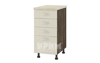 Долен кухненски шкаф с три плитки и едно дълбоко чекмедже D315