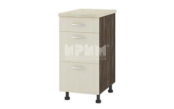Долен кухненски шкаф с едно плитко и две дълбоки чекмеджета D318