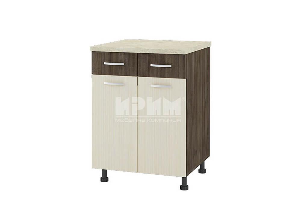 Долен кухненски шкаф с две врати и две чекмеджета D328