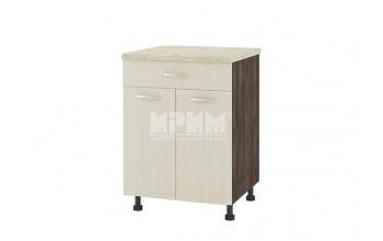 Долен кухненски шкаф с две врати и едно чекмедже D329