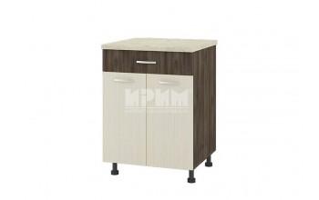 Долен кухненски шкаф с две врати и едно чекмедже D330