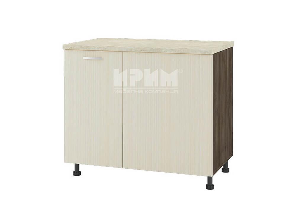 Долен кухненски шкаф за ъгъл с неотваряема част D331