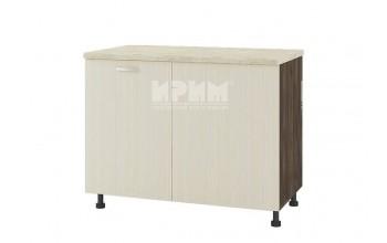 Долен кухненски шкаф за ъгъл с неотваряема част за мивка D333