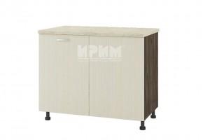 Долен кухненски шкаф за ъгъл с неотваряема част за мивка D334