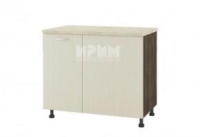 Долен кухненски шкаф за ъгъл с неотваряема част и въртящ механизъм D336
