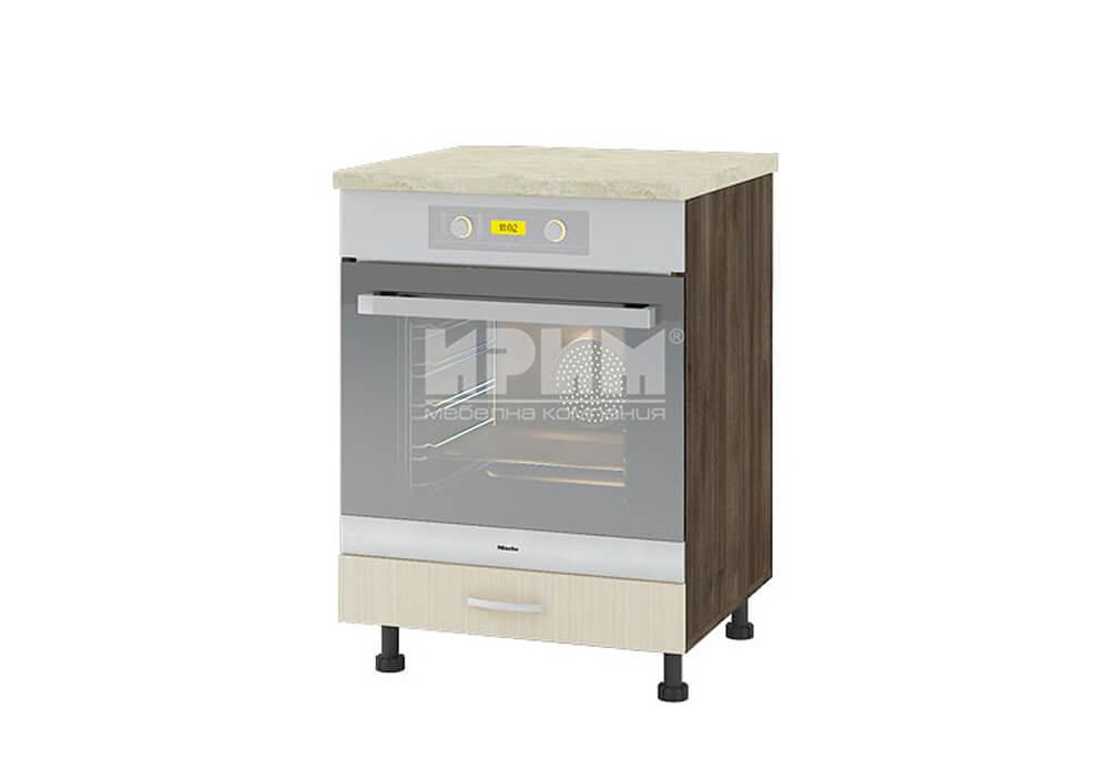 Долен кухненски шкаф за вграждане на фурна D337
