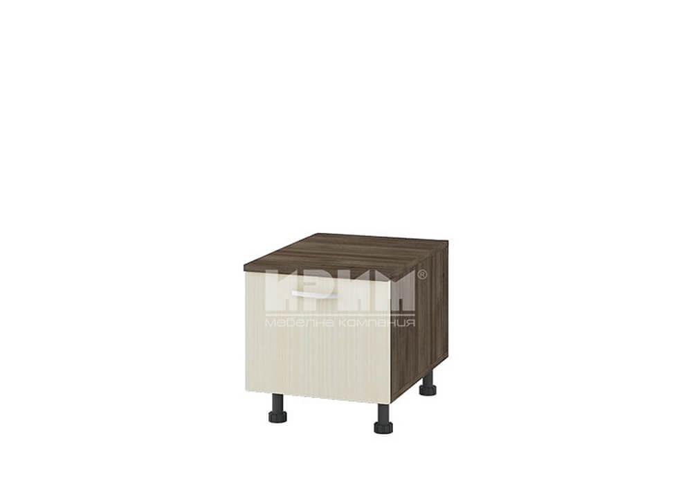 Долен кухненски шкаф с падаща врата и ПДЧ плот D340