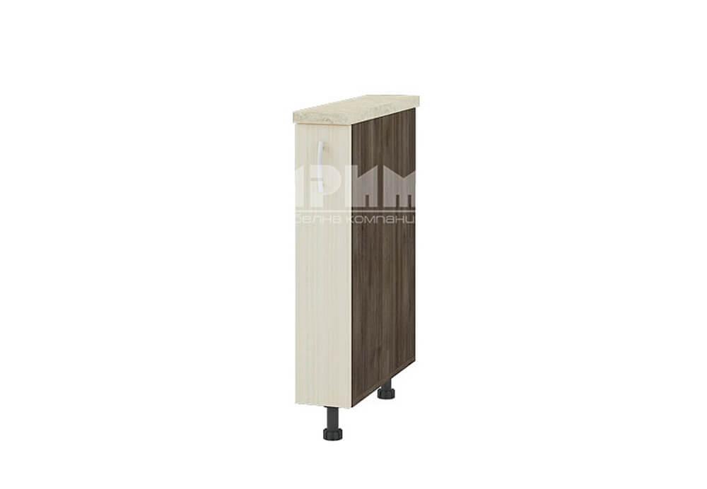 Долен кухненски шкаф с изтеглящ механизъм за бутилки D341