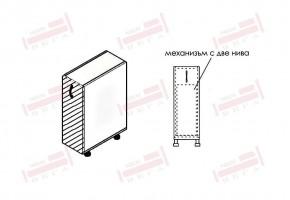 Долен кухненски шкаф с изтеглящ механизъм с две нива D342