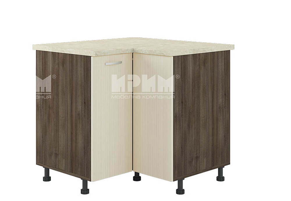Ъглов кухненски шкаф с чупещи врати D345