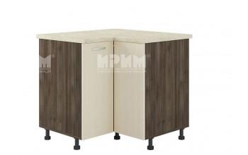 Ъглов кухненски шкаф с чупещи врати и въртящ механизъм D346