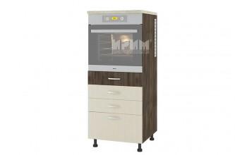 Колонен кухненски шкаф за вграждане на фурна с четири чекмеджета D358