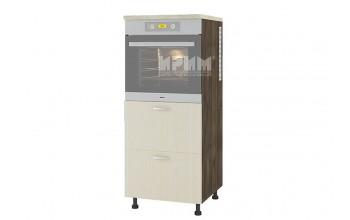 Колонен кухненски шкаф за вграждане на фурна с две чекмеджета D363