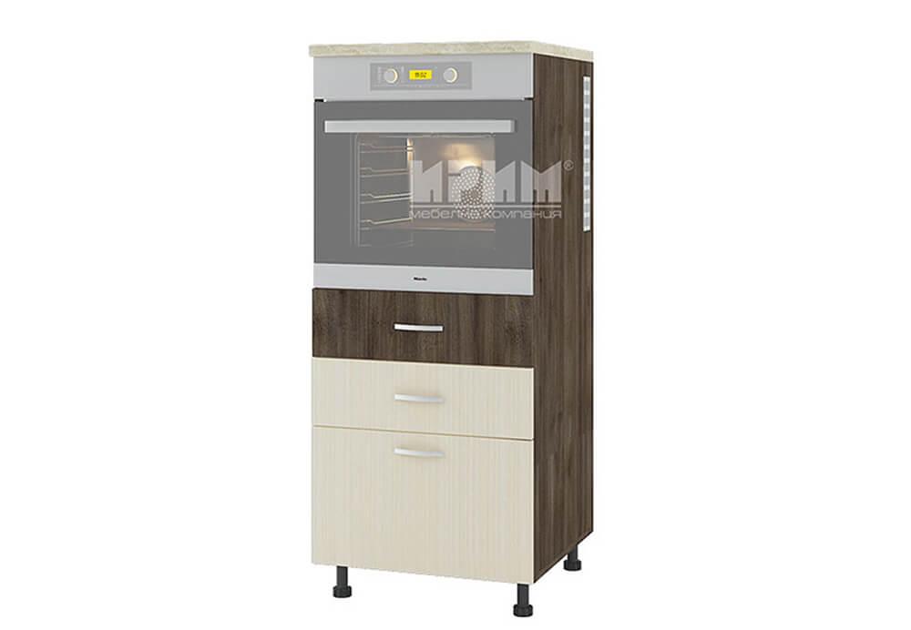 Колонен кухненски шкаф с три чекмеджета за вграждане на фурна D366