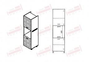 Колонен кухненски шкаф с две врати за вграждане на фурна D371