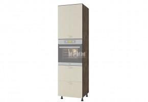 Колонен кухненски шкаф с една врата и две чекмеджета за вграждане на фурна D372