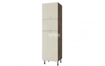 Колонен шкаф с три врати за вграждане на хладилник D374