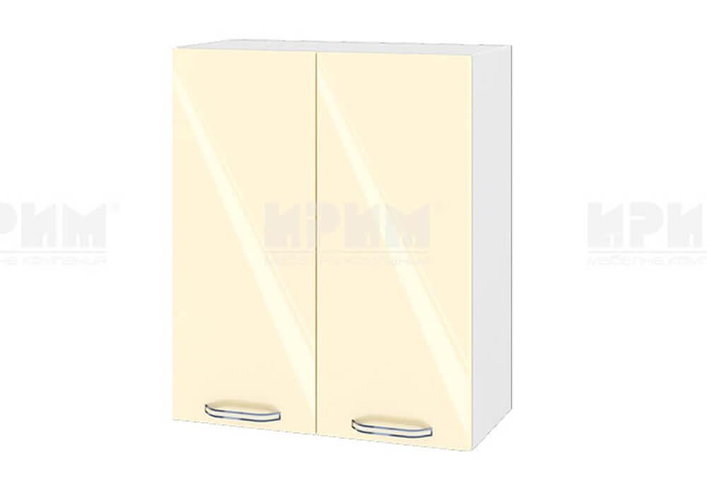 Горен кухненски шкаф с две врати - 60 см МДФ лице - БФ-Бежово гланц-05-3