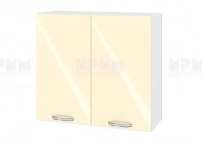 Горен кухненски шкаф с две врати - 80 см МДФ лице - БФ-Бежово гланц-05-4