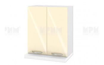 Горен кухненски шкаф за вграден абсорбатор - 60 см МДФ лице - БФ-Бежово гланц-05-13
