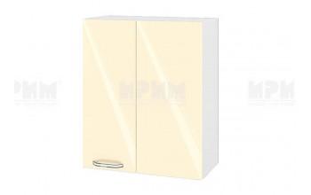 Горен кухненски шкаф за ъгъл - 60 см МДФ лице - БФ-Бежово гланц-05-17