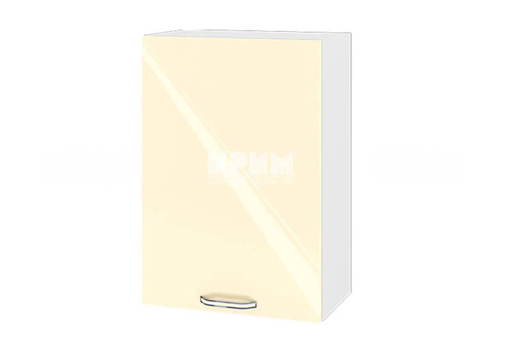 Горен кухненски шкаф с една врата - 50 см МДФ лице - БФ-Бежово гланц-05-18